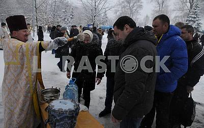 Celebration of Epiphany in Kiev