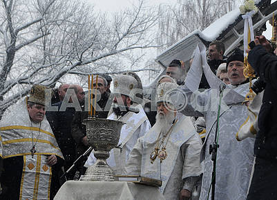 Празднование Крещения в Киеве