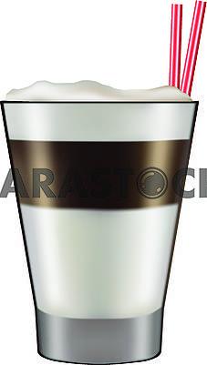 Стакан с коктейлем