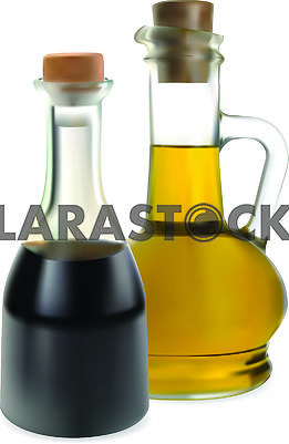 Bottles with oil
