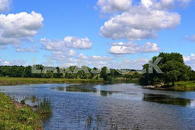 River in the forest-steppe zone
