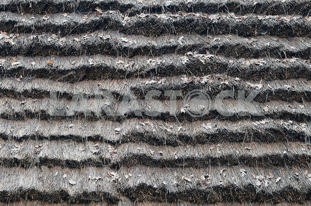 Серый старый сухой фон соломенной крыши. — Изображение 71733
