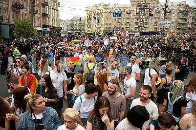 Participants of the LGBT parade