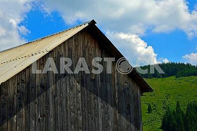 Slate roof and wall