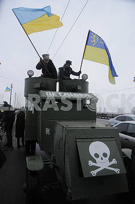"Participants of the action on the armored car ""Petlyura"""