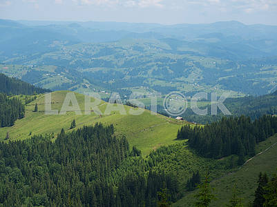 Mountain peaks in the Carpathians