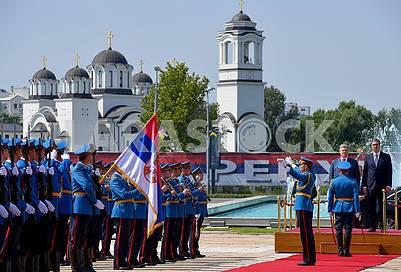 Honor Guard, Petro Poroshenko, Aleksandar Vucic