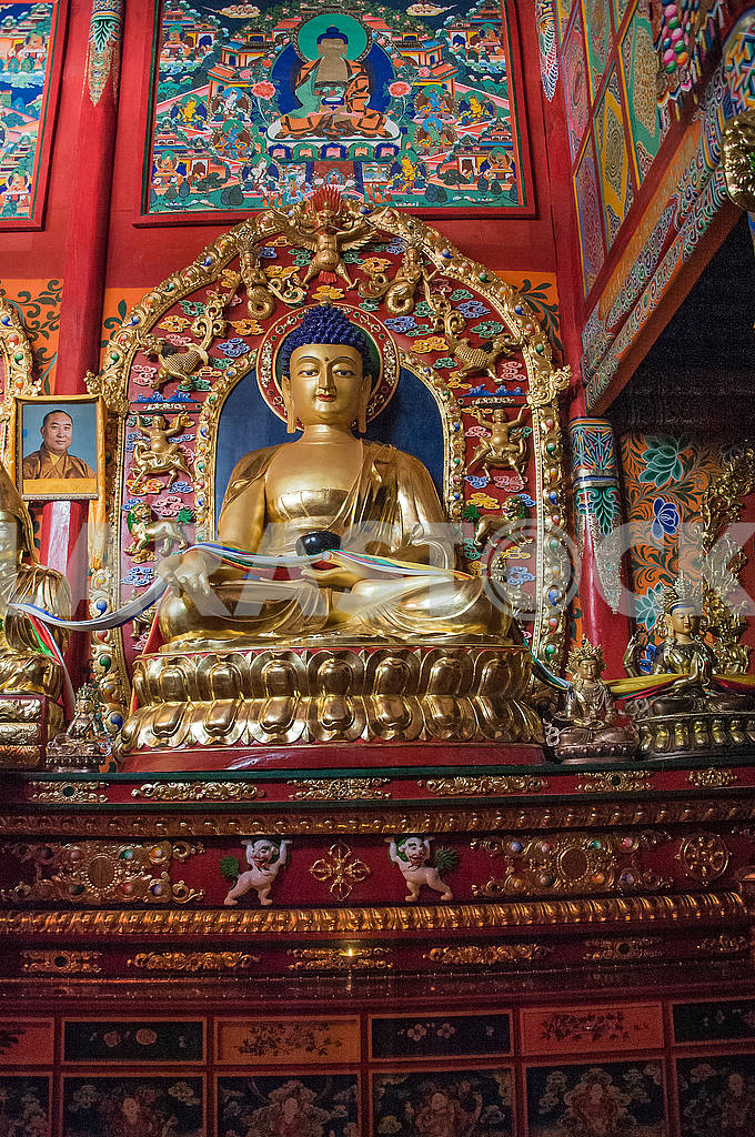 The Buddha statue of the Hall of ritual ceremonies of the nine-s — Image 72502