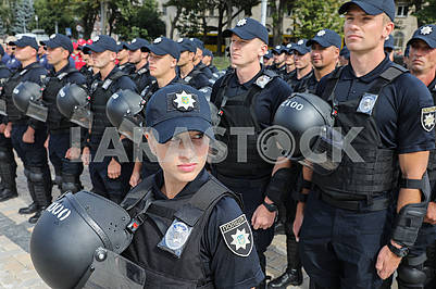 Police officers in the ranks
