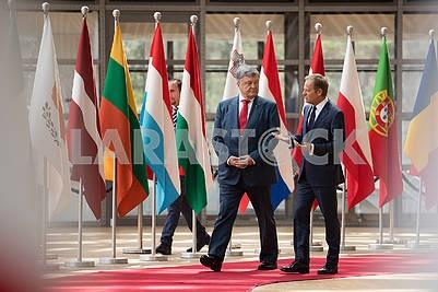 Petro Poroshenko and Donald Tusk