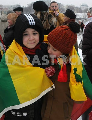 Children with the great-grandfather of Lithuania