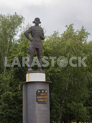 Monument to the pilot Ivan Kozhedub