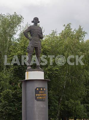 Памятник летчику Ивану Кожедубу