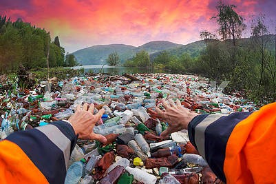Special operation to clean up the river of debris