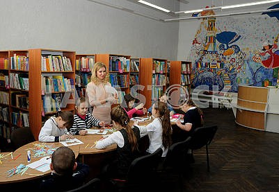 Children in the library. T.G. Shevchenko