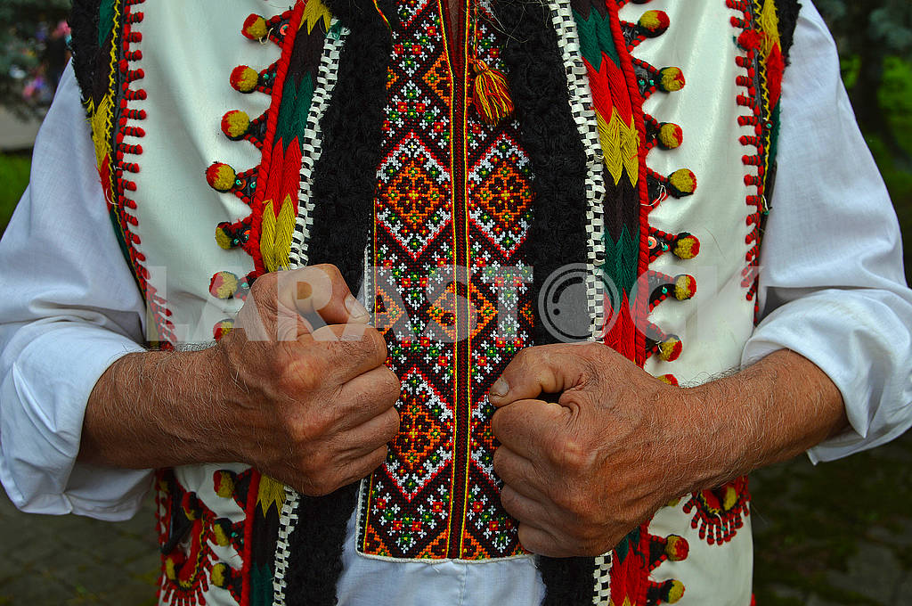 Hutsul in an embroidered shirt — Image 73156