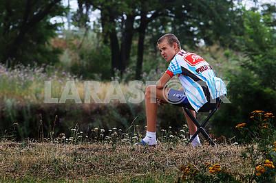 Участник велогонки в Днепре