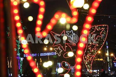 Festive illumination in Dnipro