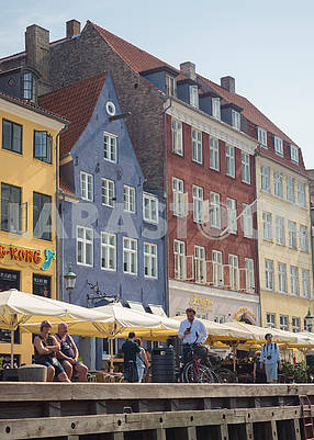 Cafe in the area of ​​Nyhavn