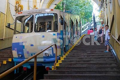 Wagon of Kiev cable car