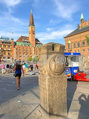 Дорожный знак в Копенгагене