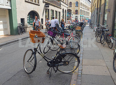 Велосипеды на улице Копенгагена
