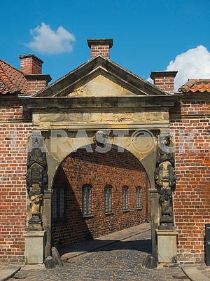 The castle gate of Rosenborg Denmark
