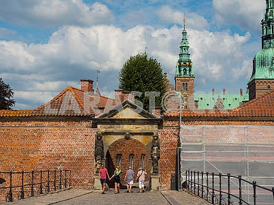 Entrance to the castle of Rosenborg, Denmark