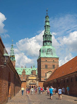 Tourists in the castle of Rosenborg