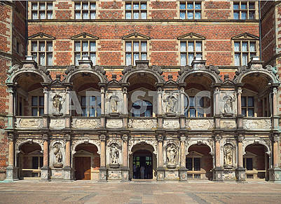 Facade of the castle Rosenborg, Denmark