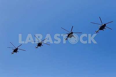 Helicopters on the parade
