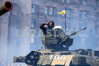 Tanks on the parade