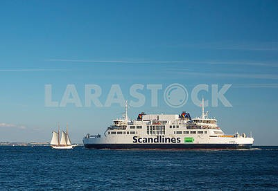 Ferry & Sailboat