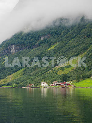 Journey through the Gulf of Sognefjord, to the village of Laerdal