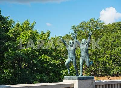 Скульптуры в парке Вигеланда