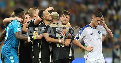Футболисты Аяксапразднуют победу