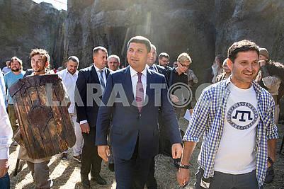 The moment of filming Zakhar Berkut