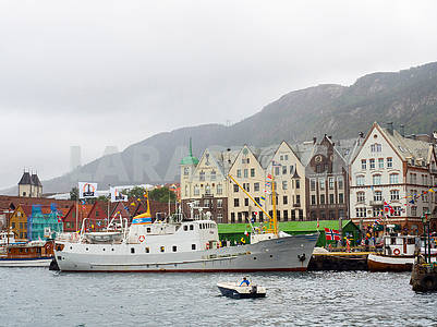 The ship in the bay of Bergen