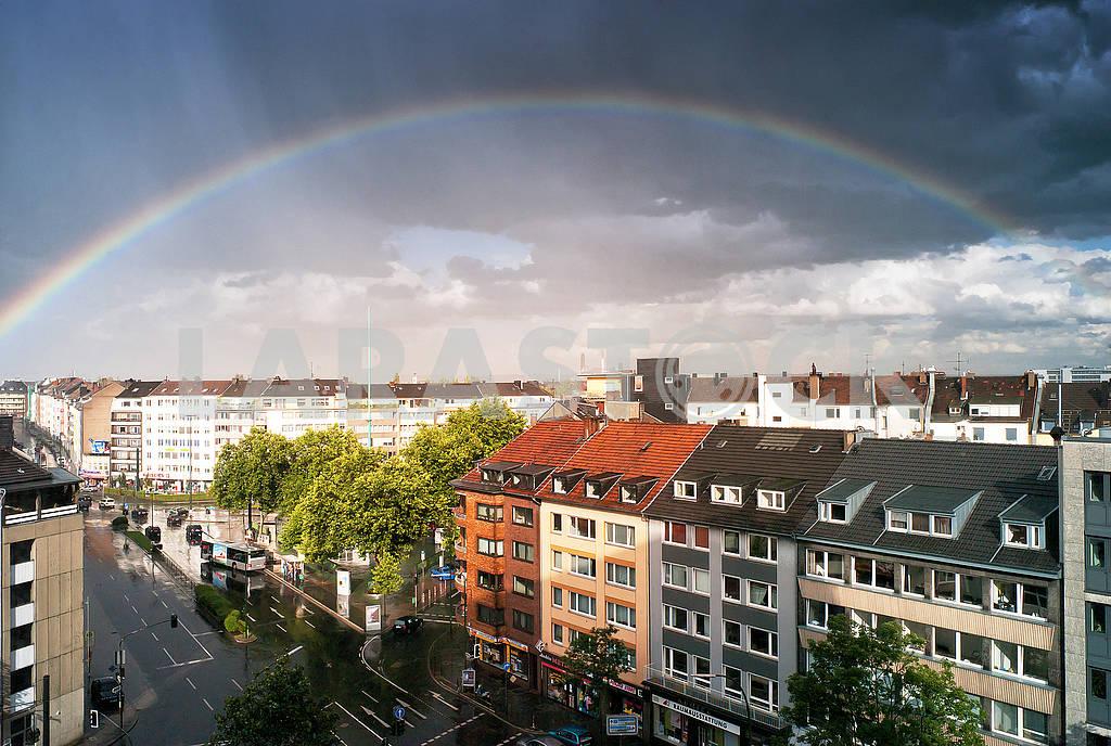Радуга после дождя в Дюссельдорфе — Изображение 73982