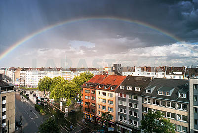 Rainbow after the rain in Dusseldorf