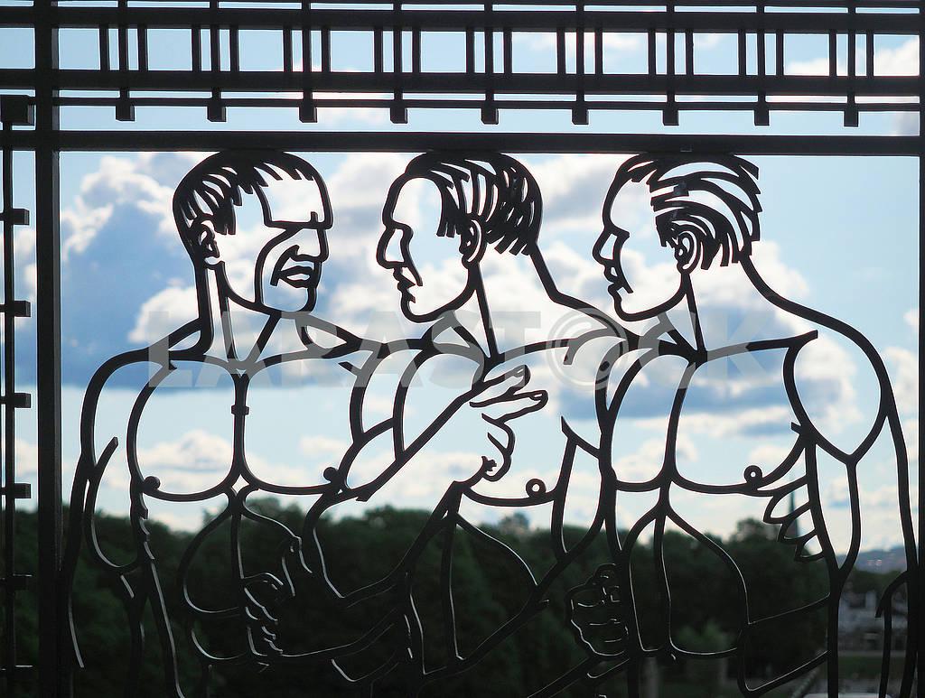 Арт-решетка в парке — Изображение 74144