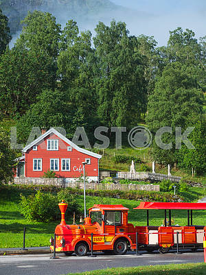 Tourist train in Eifjord