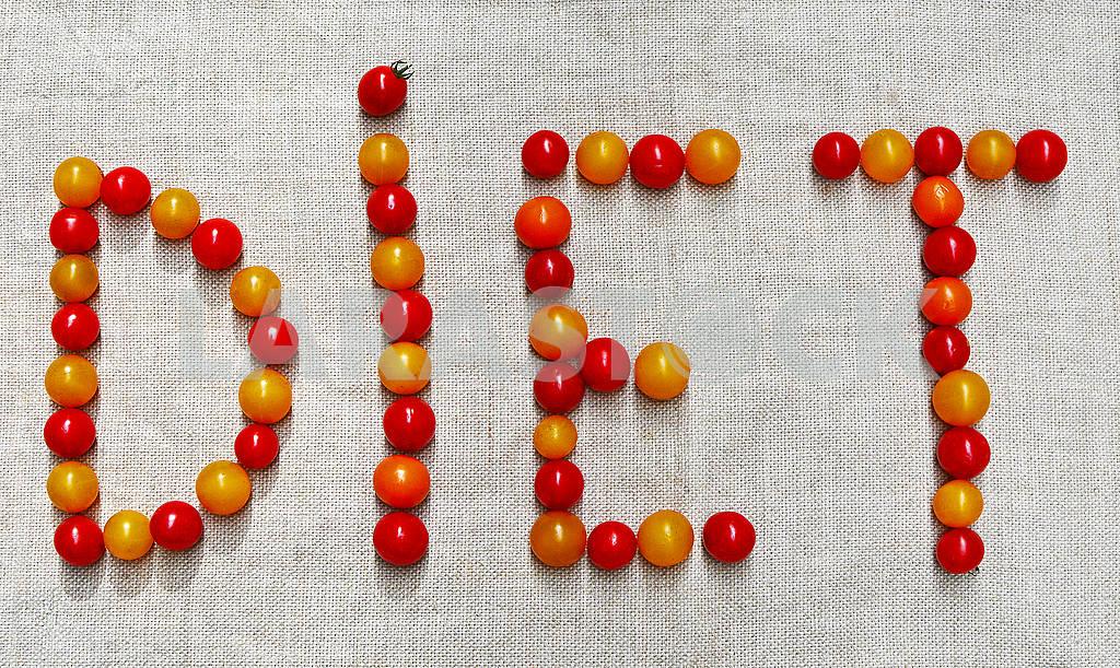 Слово ДІЄТА складається з маленьких помідорів — Изображение 74567