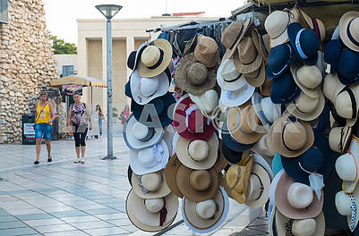 Hats on the street