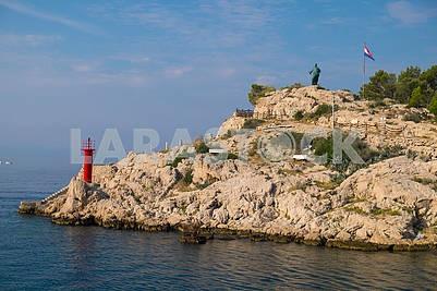 Lighthouse in the bay of Makarska