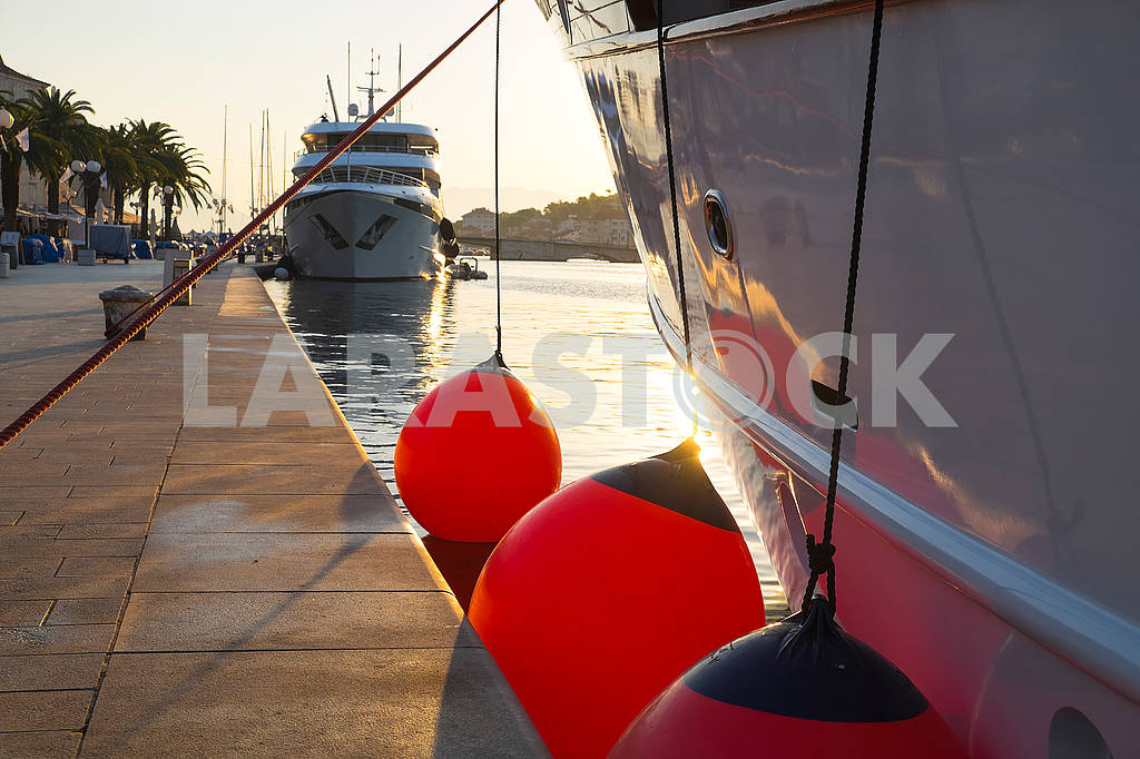Yachts in Trogir in the morning — Image 74642