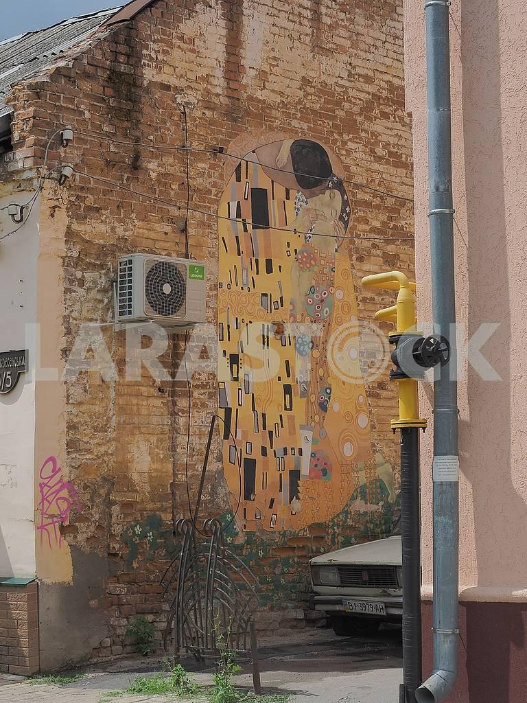 Мурал на стене дома — Изображение 74674