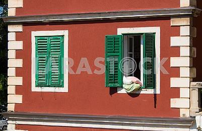 Windows and shutters in Sibenik