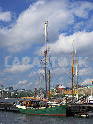 Yachts in the port of Stockholm