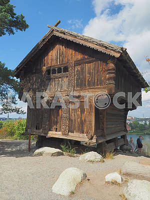Wooden house in Skansen